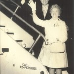 Number 15 Boarding plane to Rome with his mother Caroline Guarini